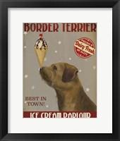 Framed Border Terrier Ice Cream