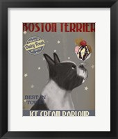 Framed Boston Terrier Ice Cream