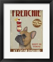 Framed French Bulldog Ice Cream