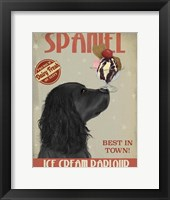 Framed Cocker Spaniel, Black, Ice Cream