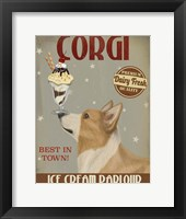 Framed Corgi, Tan, Ice Cream