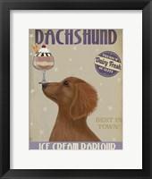 Framed Dachshund, Gold, Ice Cream
