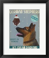 Framed German Shepherd Ice Cream
