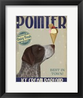 Framed German Shorthaired Pointer Ice Cream