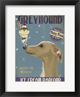Framed Greyhound, Tan, Ice Cream