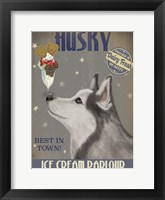 Framed Husky Ice Cream
