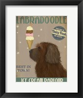 Framed Labradoodle, Brown, Ice Cream