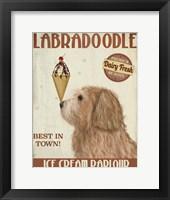 Framed Labradoodle, Golden, Ice Cream