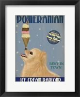 Framed Pomeranian Ice Cream