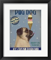 Framed Pug, Fawn, Ice Cream