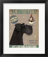 Framed Schnauzer, Black, Ice Cream