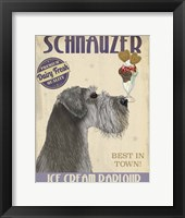Framed Schnauzer, Grey, Ice Cream