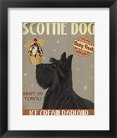 Framed Scottish Terrier Ice Cream
