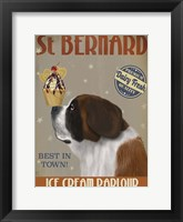 Framed St Bernard Ice Cream