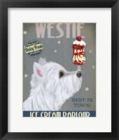 Framed Westie Ice Cream