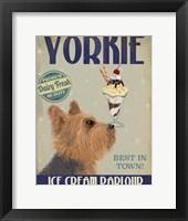 Framed Yorkshire Terrier Ice Cream