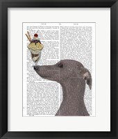 Framed Greyhound, Grey, Ice Cream