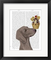 Framed Weimaraner Ice Cream