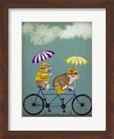 Framed English Bulldog Tandem