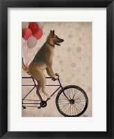 Framed German Shepherd on Bicycle