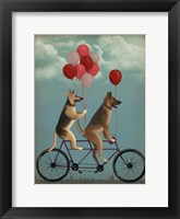 Framed German Shepherd Tandem