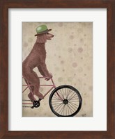 Framed Poodle on Bicycle, Brown