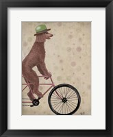 Framed Poodle on Bicycle, Brown