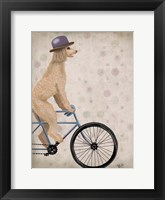 Framed Poodle on Bicycle, Cream