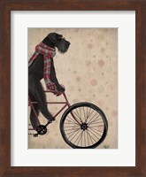 Framed Schnauzer on Bicycle, Black