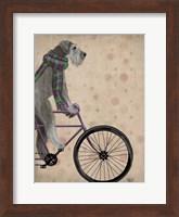 Framed Schnauzer on Bicycle, Grey