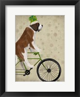 Framed St Bernard on Bicycle