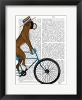 Framed Boxer on Bicycle