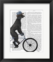 Framed Poodle on Bicycle, Black