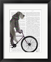 Framed Schnauzer on Bicycle, Grey