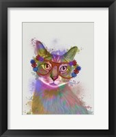Framed Rainbow Splash Cat 1
