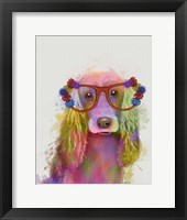 Framed Rainbow Splash Cocker Spaniel, Portrait