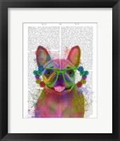 Framed Rainbow Splash French Bulldog, Portrait