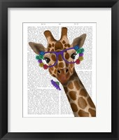 Framed Chewing Giraffe 1