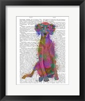 Framed Rainbow Splash Weimaraner, Full