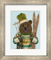 Framed Bear in Christmas Sweater