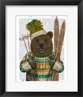 Framed Bear in Christmas Sweater