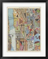 Framed Modern Map of New York I