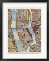 Framed Modern Map of New York II