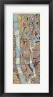 Framed Modern Map of New York III
