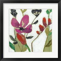Framed Vivid Flowers I