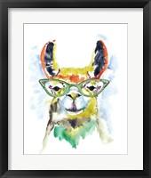 Framed Smarty-Pants Llama