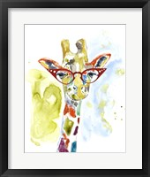 Framed Smarty-Pants Giraffe