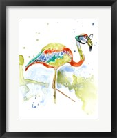 Framed Smarty-Pants Flamingo