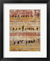 Framed Birds on Wood II