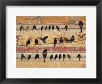 Framed Birds on Wood V